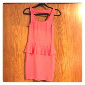 Adorable sexy coral party dress